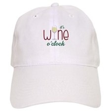 Wine OClock Baseball Baseball Cap