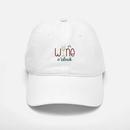 Wine OClock Baseball Cap