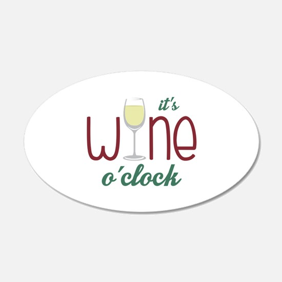 Wine OClock Wall Decal