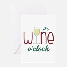 Wine OClock Greeting Cards