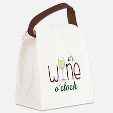 Wine OClock Canvas Lunch Bag