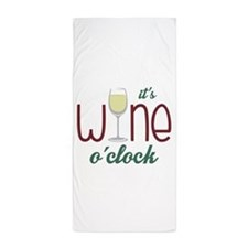 Wine OClock Beach Towel