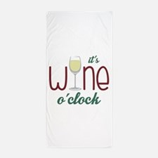 Wine OClock Beach Towel
