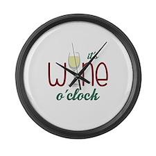 Wine OClock Large Wall Clock