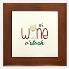 Wine OClock Framed Tile