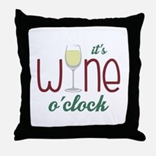 Wine OClock Throw Pillow