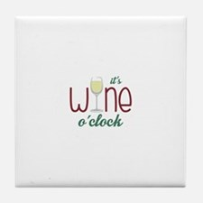 Wine OClock Tile Coaster