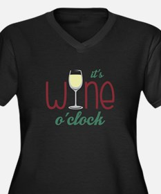 Wine OClock Plus Size T-Shirt