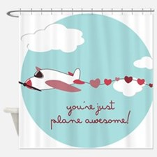 Plane Awesome Shower Curtain