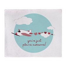 Plane Awesome Throw Blanket