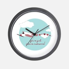 Plane Awesome Wall Clock