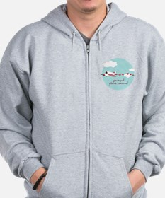 Plane Awesome Zip Hoodie