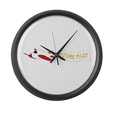 Future Pilot Large Wall Clock