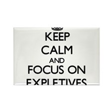 Keep Calm and focus on EXPLETIVES Magnets