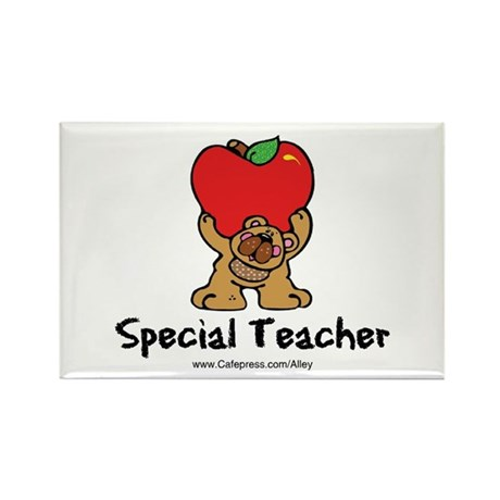 Special Teacher (bear) Rectangle Magnet