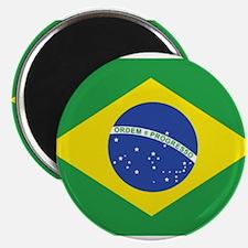 """brazil flag 2.25"""" Magnet (10 pack)"""