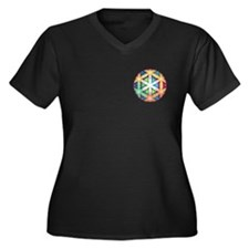 Holographic Awareness Icon, +size V-neck dark T