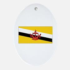brunei darussalam flag Oval Ornament
