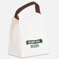 Welcome Home Soldier Canvas Lunch Bag