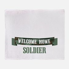 Welcome Home Soldier Throw Blanket