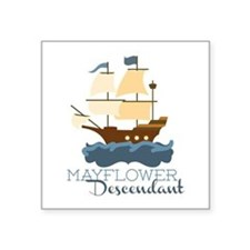 Mayflower Descendant Sticker