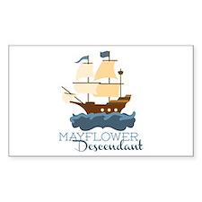 Mayflower Descendant Decal