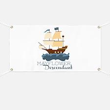 Mayflower Descendant Banner