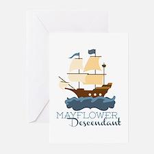 Mayflower Descendant Greeting Cards