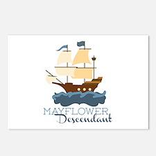 Mayflower Descendant Postcards (Package of 8)