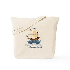 Mayflower Descendant Tote Bag