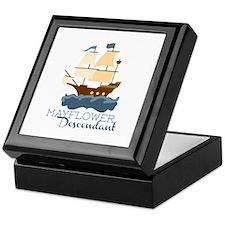 Mayflower Descendant Keepsake Box