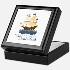 Mayflower Descendant Keepsake Box