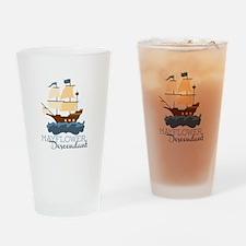 Mayflower Descendant Drinking Glass