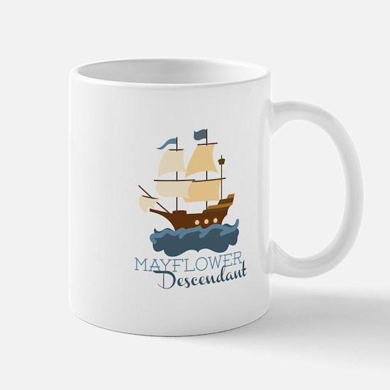 Mayflower Descendant Mugs