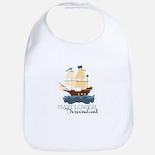 Mayflower Descendant Bib