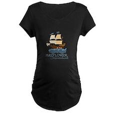 Mayflower Descendant Maternity T-Shirt