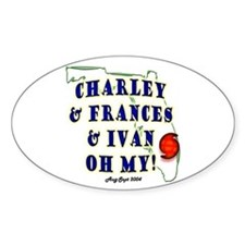 Charley & Francis & Ivan Oval Decal