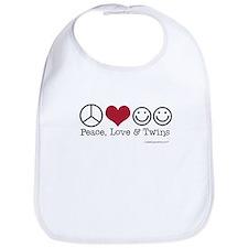 Peace, Love & Twins - Bib