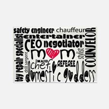 Stay at home mom job description Rectangle Magnet