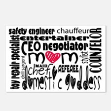 Stay at home mom job desc Postcards (Package of 8)