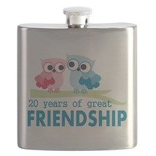 20th Wedding Anniversary Gift For Her Flask