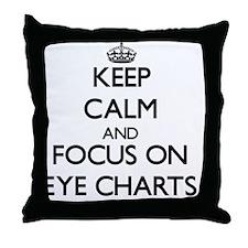 Cute Eye chart Throw Pillow