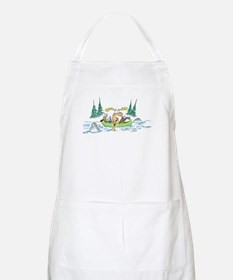 Animals in a Canoe BBQ Apron