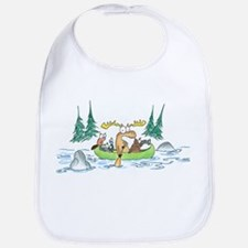 Animals in a Canoe Bib