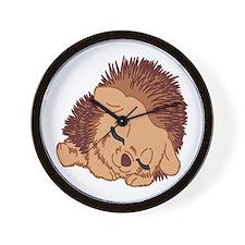 Sleeping Hedgehog Wall Clock