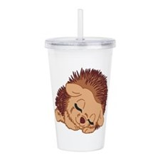 Sleeping Hedgehog Acrylic Double-Wall Tumbler