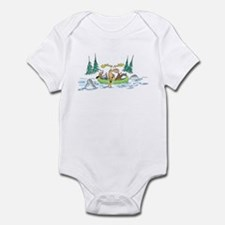 Animals in a Canoe Infant Bodysuit