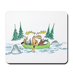 Animals in a Canoe Mousepad