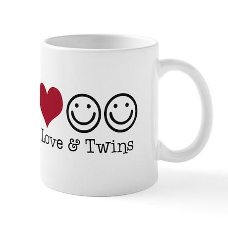 Peace, Love & Twins - Mug