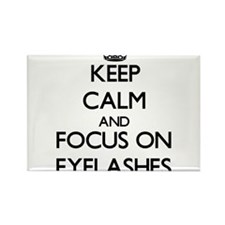 Keep Calm and focus on EYELASHES Magnets